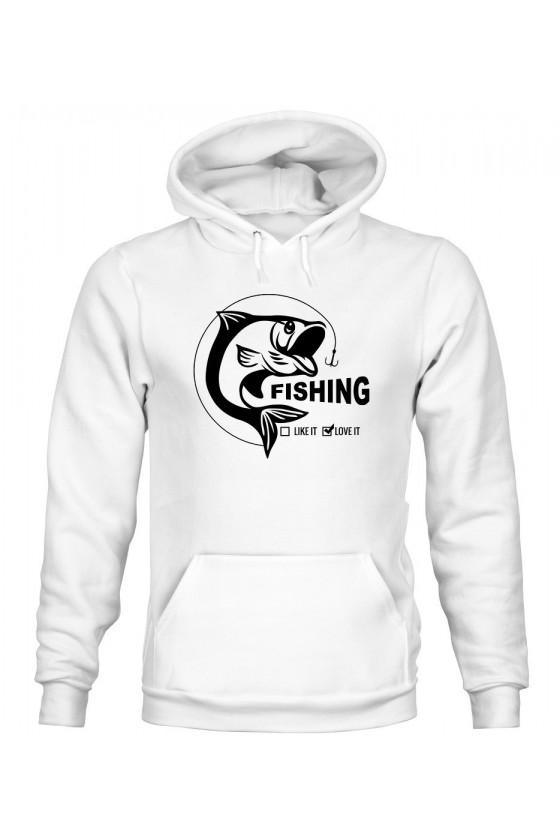 Bluza Męska z Kapturem Fishing Love It