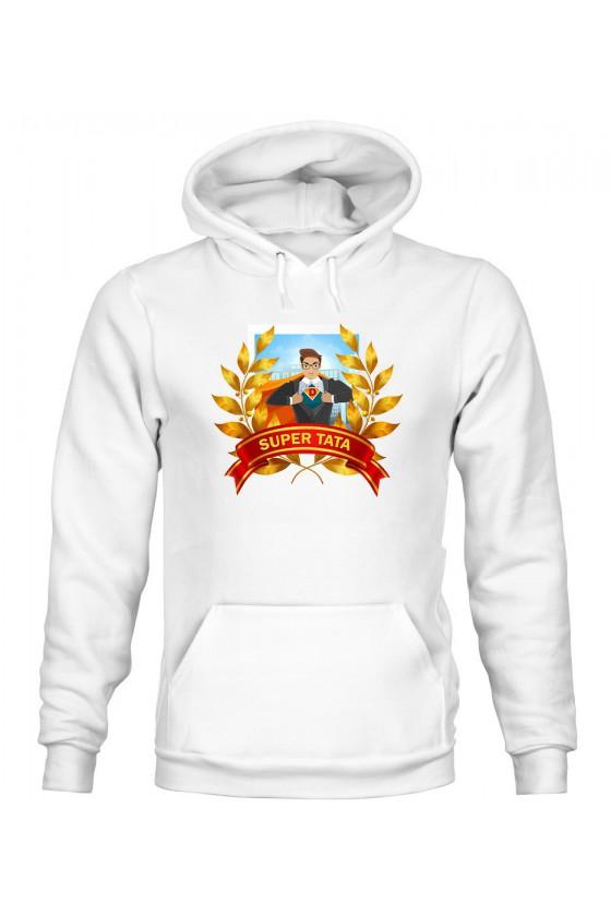 Bluza Męska z Kapturem Super Tata
