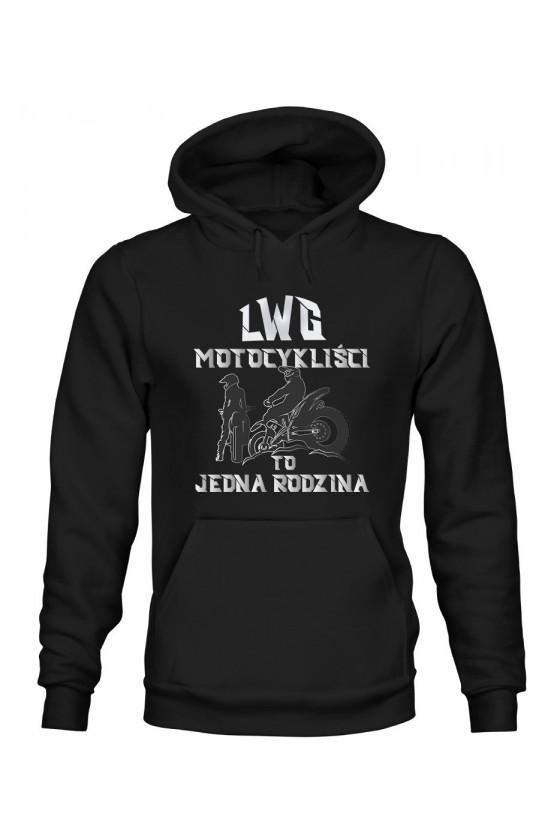 Bluza Męska z Kapturem LWG Motocykliści To Jedna Rodzina