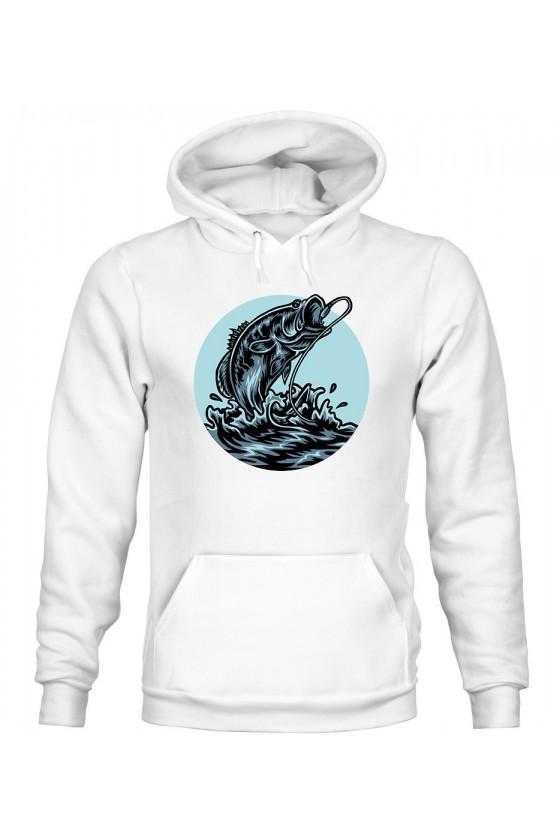 Bluza Męska z Kapturem Fish