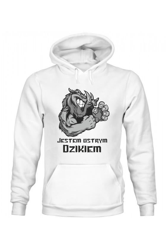 Bluza Damska z Kapturem Jestem Ostrym Dzikiem