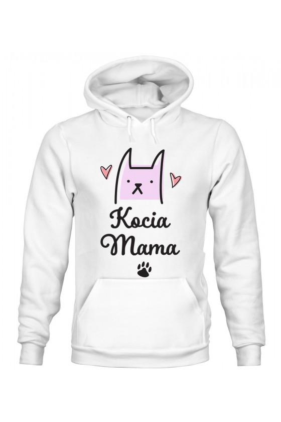 Bluza Damska z Kapturem Kocia Mama