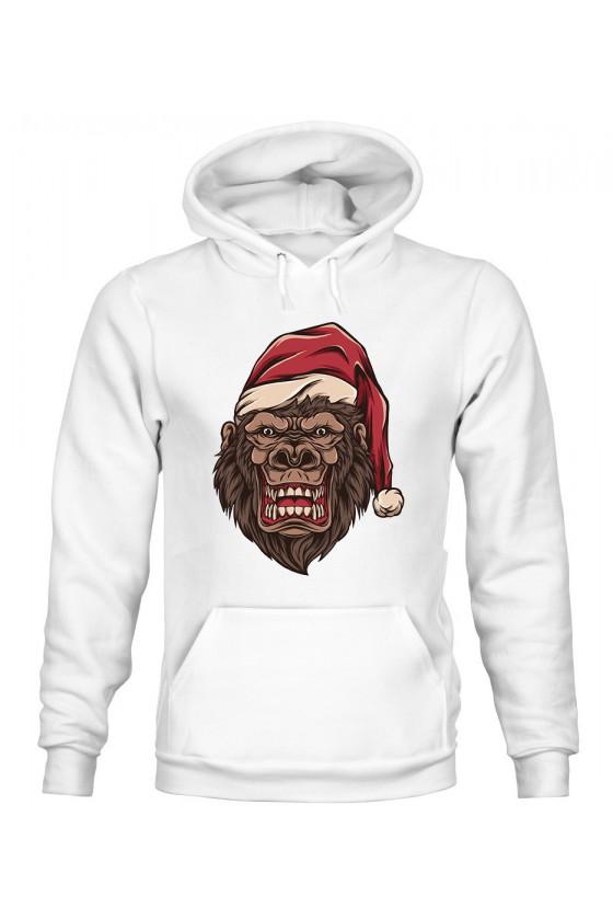 Bluza Damska z Kapturem Świąteczny Goryl
