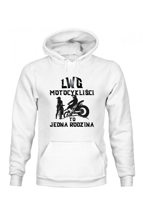 Bluza Damska z Kapturem LWG Motocykliści To Jedna Rodzina