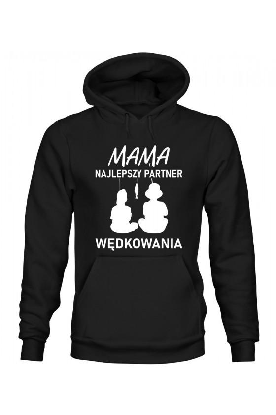 Bluza Damska z Kapturem Mama, Najlepszy Partner Wędkowania