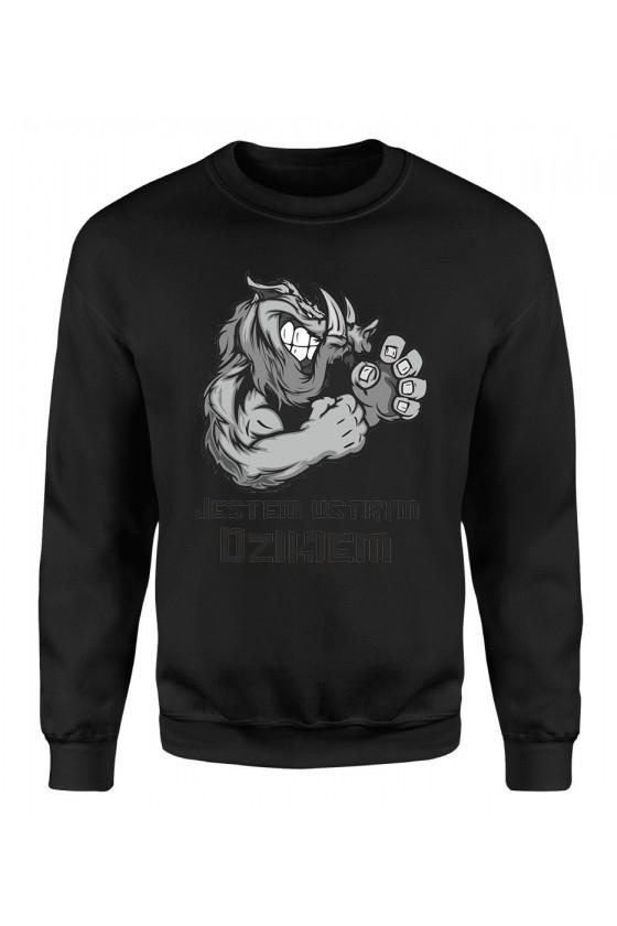 Bluza Męska Klasyczna Jestem Ostrym Dzikiem