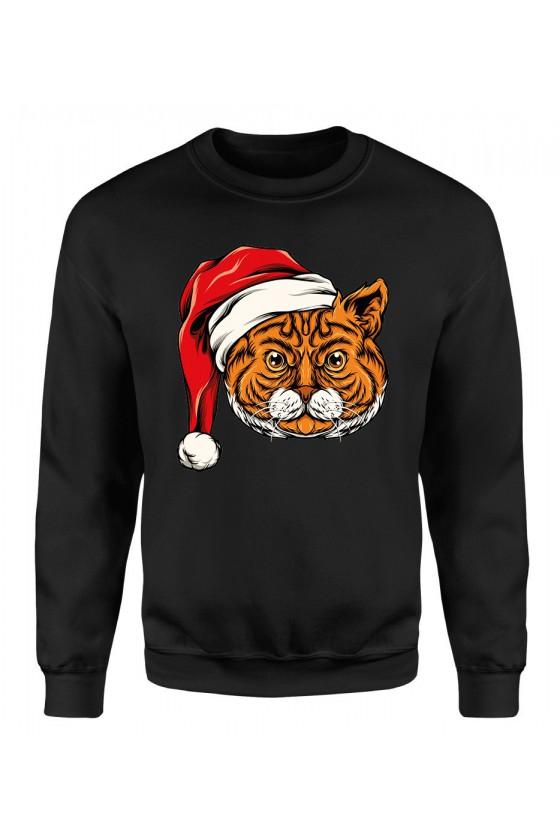 Bluza Męska Klasyczna Świąteczny Kot II