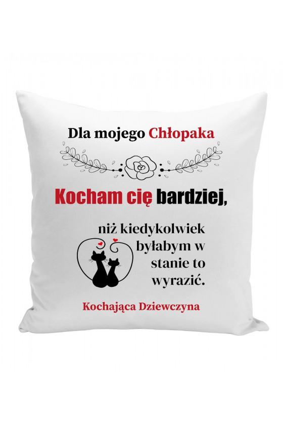 Poduszka Dla Mojego Chłopaka, Kocham Cię Bardziej