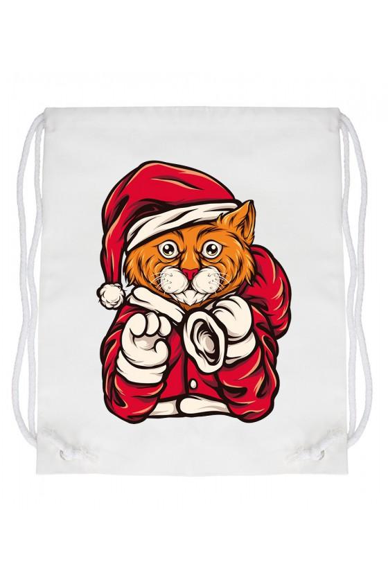 Worek Świąteczny Kot