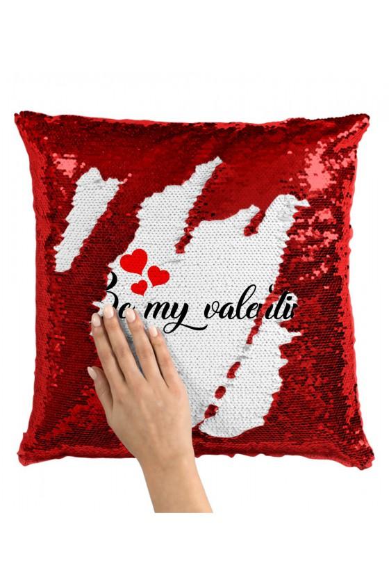 Poduszka z Cekinami Be My Valentine