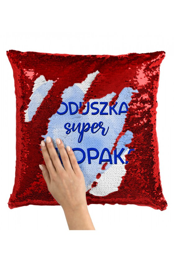 Poduszka z Cekinami Poduszka Super Chłopaka