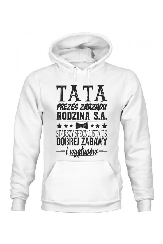 Bluza Męska z Kapturem Tata Prezes Zarządu Rodzina S.A.