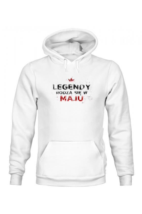 Bluza Męska z Kapturem Legendy Rodzą Się W Maju