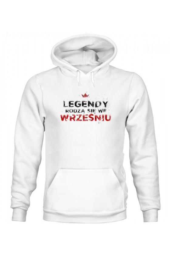 Bluza Męska z Kapturem Legendy Rodzą Się We Wrześniu